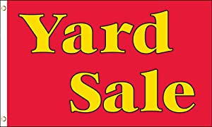 AZ FLAG Yard Sale Red and Yellow Flag 3' x 5' - Yard Sales Flags 90 x 150 cm - Banner 3x5 ft