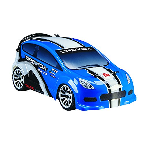 Dromida 1:18 Scale RTR Remote Control RC Car: Brushless Electric 4WD Rally Car with 2.4GHz Radio - 7.2V 6C 1300mAh NiMH Rechargeable Battery - 4 x AA Batteries and Charger