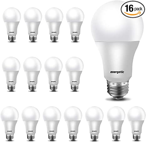 Led Light Bulbs 60 Watt Equivalent A19 Warm White 3000k E26 Base Non Dimmable 750lm Ul Listed 16 Pack