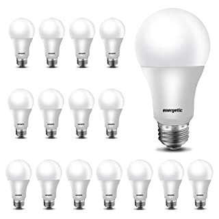 A19 LED Light Bulb,40 Watt Equivalent,3000K Warm White, E26 Medium Base, Non-Dimmable LED Light Bulb,UL Listed,16-Pack
