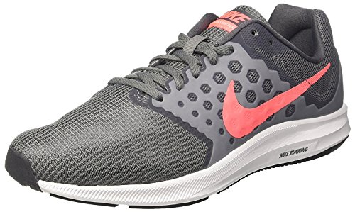 Nike WMNS Downshifter 7 Wide, Chaussures de Trail Femme Gris (Cool Grey / Lava Glow / Dark Grey / White 001)