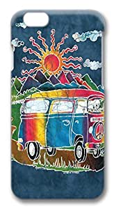 Batik Tour Bus PC Case Cover for iphone 6 plus 5.5inch &hong hong customize