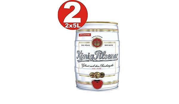 2 x Koenig Pilsener 5 Liter barril 4,9% vol König: Amazon.es: Alimentación y bebidas