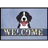 "Caroline's Treasures BB1423MAT Bernese Mountain Dog Welcome Indoor or Outdoor Mat, 18 x 27"", Multicolor"