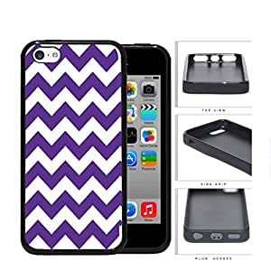 Chevron Design Pattern in Purple Rubber Silicone TPU Cell Phone Case Apple iPhone 5c