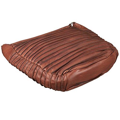 FREDsBRUDER Riffeltier S Borsa a spalla pelle 33 cm brown_cognac, braun
