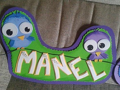 Carteles con nombre para niños y niñas. Letreros ...