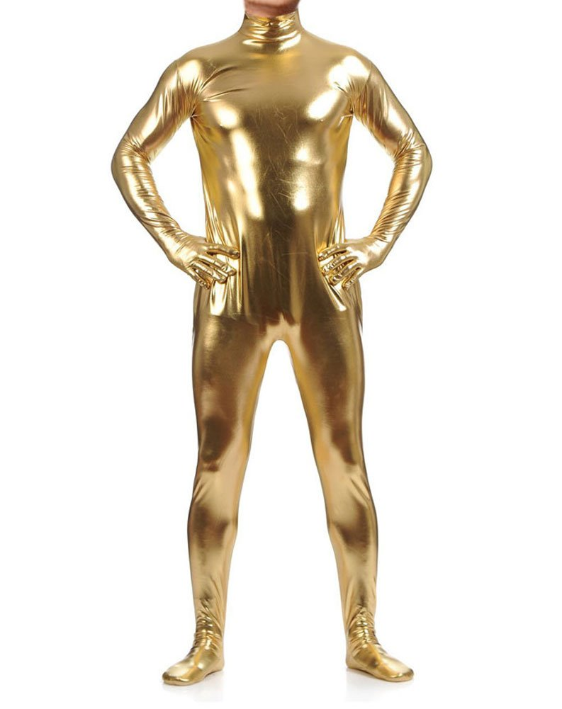 WOLF UNITARD Shiny Metallic Unitard Zentai Bodysuit