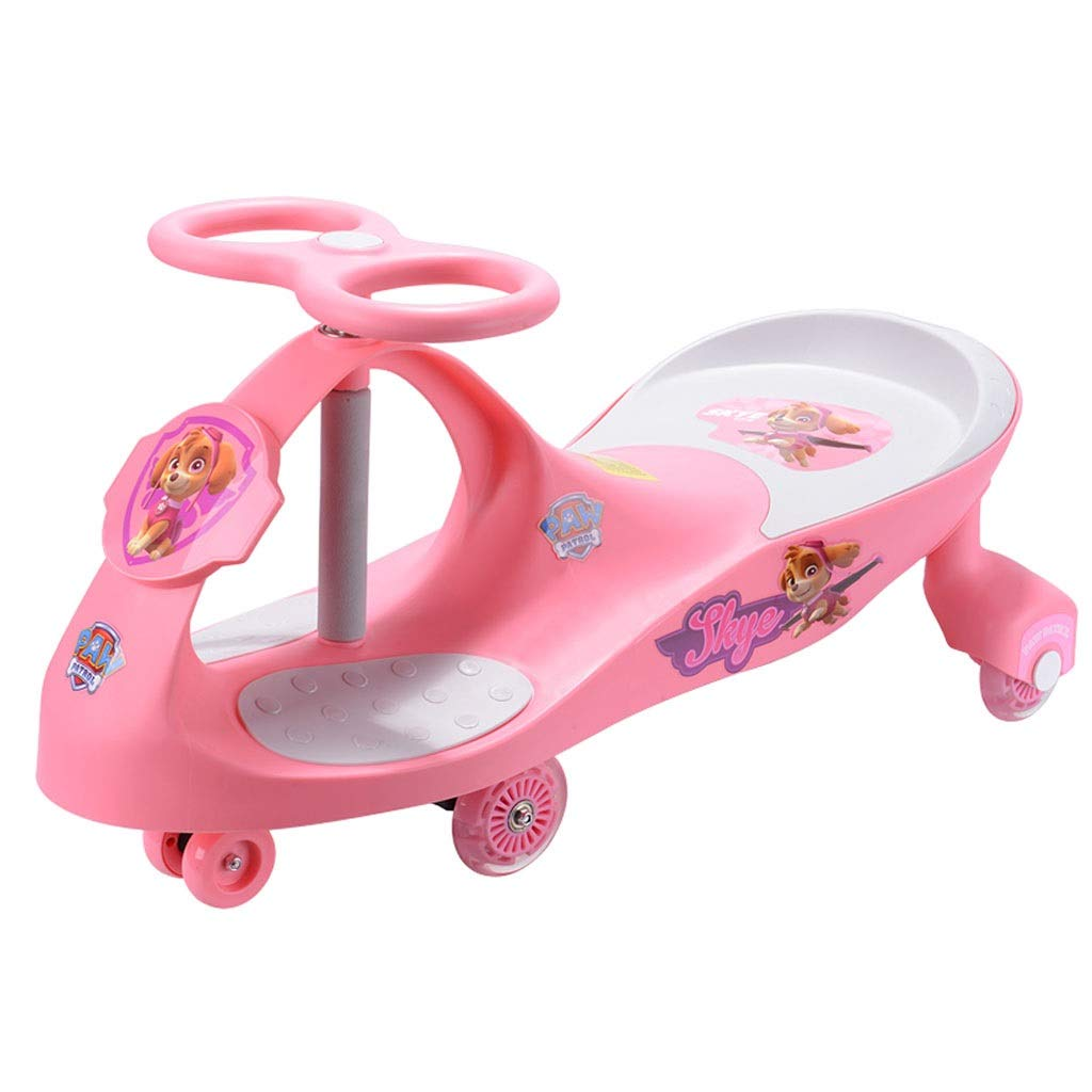 Pedal Cars Children Twist Car Mute Flash Caster Swing Yo Car 1-3 Years Old Baby Girl Car Toy Swing Car Meng Bao Age Gift Load 45kg (Color : Pink, Size : 8040CM)