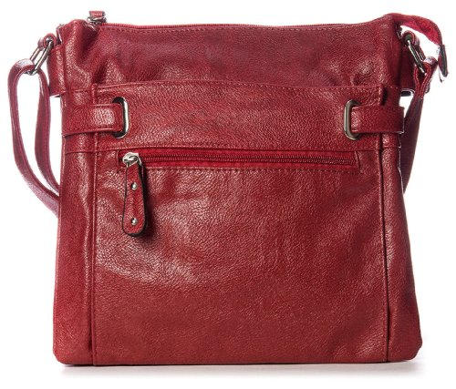 Big Handbag Shop - Bolso al hombro de sintético para hombre One Azul Marino Azul