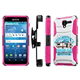 hydro for cooking - Kyocera Hydro View C6742 Case, [NakedShield] [Black/ Hot Pink] Heavy Duty Holster Armor Tough Case - [Heisenberg Cooking Class] for Kyocera Hydro View C6742