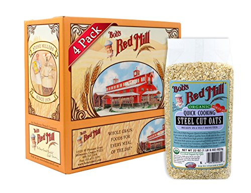 Bob's Red Mill Organic Quick Cooking Steel Cut Oats, 22 Oz (4 Pack) ()