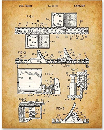 Runners' Starting Blocks - 11x14 Unframed Patent Print - Makes a Great Gift Under $15 for Athletes ()