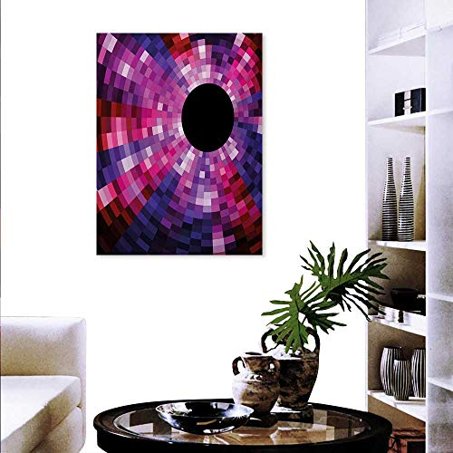 - Mannwarehouse Abstract Customizable Wall Stickers Mosaic Pattern Design Vibrant Colors Tiles Modern Circular Geometric Graphic Wall Decoration 32