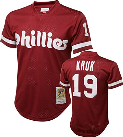 John Kruk Philadelphia Phillies Mitchell   Ness Authentic 1991 Batting  Practice Jersey 5392301ea47