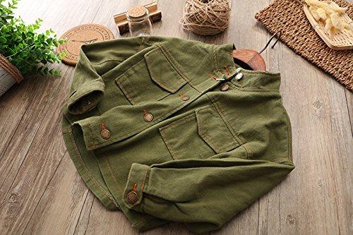 Abalacoco Big Boys Unisex 100/% Cotton Soft Denim Outwear Shirt Loose Wear Bat Sleeve Coat Mid-Thick Jacket