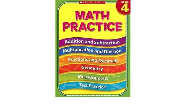 Amazon.com: 4th Grade Math Practice (Practice (Scholastic ...
