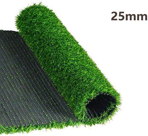 CarPET 25mm Kunstrasen, grüner dekorativer Rasenteppich, geeignet für den Außenbalkon des Kindergartens, wasserdicht und leicht zu schneiden YNFNGXU (Size : 2x4m)