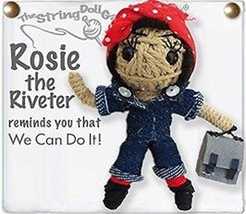 Kamibashi Rosie the Riveter Original String Doll Gang Keychain (String Doll Gang)