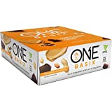 ONE Basix Protein Bar Peanut Butter Chocolate Chunk 12 Count, Gluten-Free Protein Bar with High Protein (20g) and Low Sugar (1g), Guilt Free Snacking for Healthy Diets