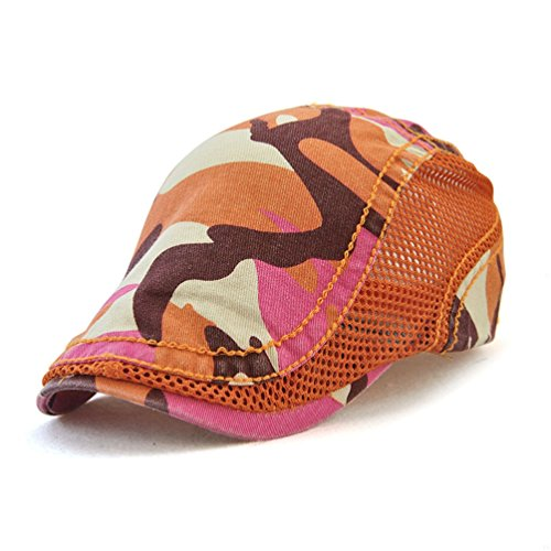 Flat Coffee Sport Mesh Men Beret Camouflage Cap Woman Ivy Fashion Mesh Breathable GADIEMENSS Hats Orange Bill Camouflage Newsboy Cap Summer Cap for Cap Cap 85dPxUSq