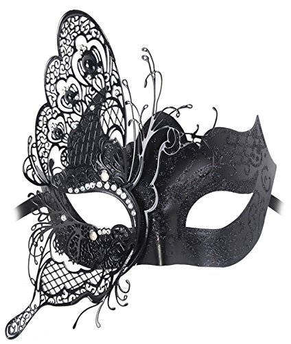 Venetian Mask, Coxeer Princess Dance Mask Metal Butterfly Mask for Halloween Masquerade Mask (Venetian Eye Mask)