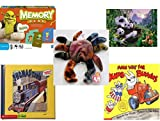 Children's Gift Bundle - Ages 3-5 [5 Piece] - Shrek Forever After Memory Game - Ravensburger Panda Family 200 Piece Puzzle Toy - Ty Teenie Beanie Baby - Claude the Crab - Thomas & Friends: Thomas an