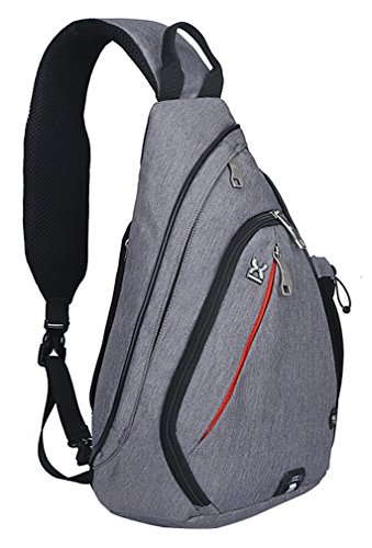 - Pioneeryao 19'' Sling Bag Backpack Crossbody Bag Shoulder Bag (Grey)