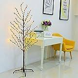 Excelvan 1.5M/5FT 200LED PVC Paper Tied Tree Light,...