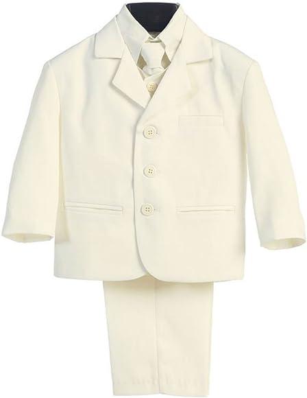 Amazon.com: Traje de color marfil de 5 piezas con camisa ...