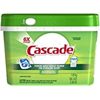 60-Count Cascade ActionPacs Fresh Scent Dishwasher Detergent + $10 Gift Card