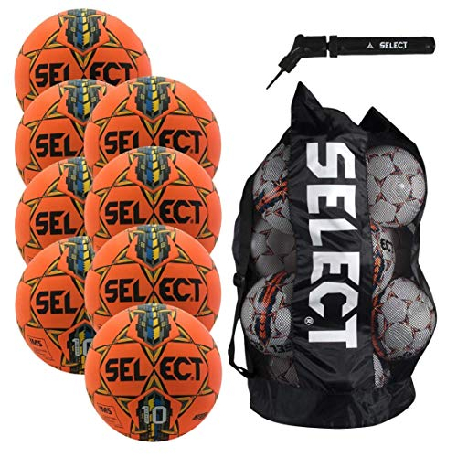 Select Numero 10 Soccer Ball - Team Pack of 8 with Duffle Ball Bag and Ball Pump(Size 5, - Bags 8 Team