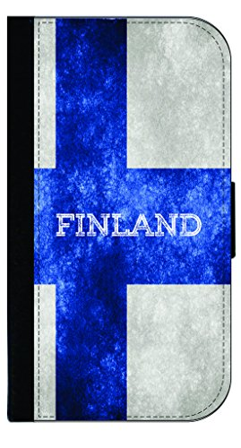 Finland Grunge Flag-Rosie Parker Samsung Galaxy S8 Plus /s8+ Leather and Suede Look Wallet Style Phone (Finland Ribbons)
