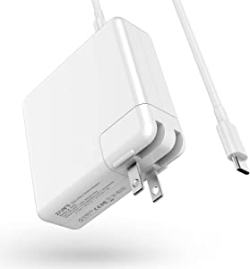 Replacement Mac Book Air Charger, 96W USB C Power Adapter for MacBook Pro 16 15 13 Inch, New Air 13 Inch 2020 2019 2018, Works with PD 87W 61W 30W 29W, Included USB-C to USB-C Charge Cord (6.6ft/2m)