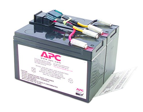 APC UPS Replacement Battery Cartridge for APC UPS Models SMT750, SUA750 and select others (RBC48)