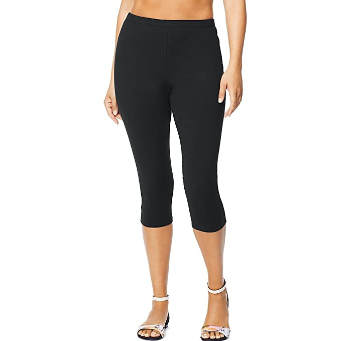 b3d6244696f Just My Size Stretch Cotton Jersey Women s Capri Leggings at Amazon Women s  Clothing store
