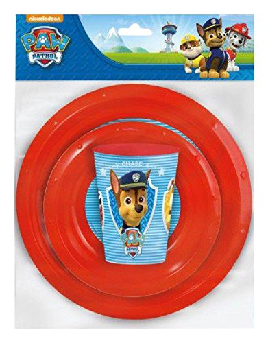 Paw Patrol La Patrulla Canina - Set value 3 piezas (plato y cuenco value,