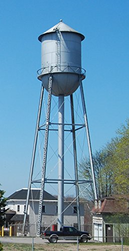 Home Comforts Mill Water Tower in Kenyon, Rhode Island Vivid Imagery Laminated Poster Print 24 x 36