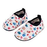 Laiwodun Toddler Shoes Kids Swim Water Shoes Boys Girls Barefoot Aqua Socks Shoes for Beach Pool Surfing Yoga Unisex(17-34-35)
