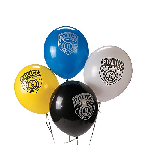 24 POLICE Policeman Cop Party Decorations Police Department LATEX BALLOONS (Police Pics)