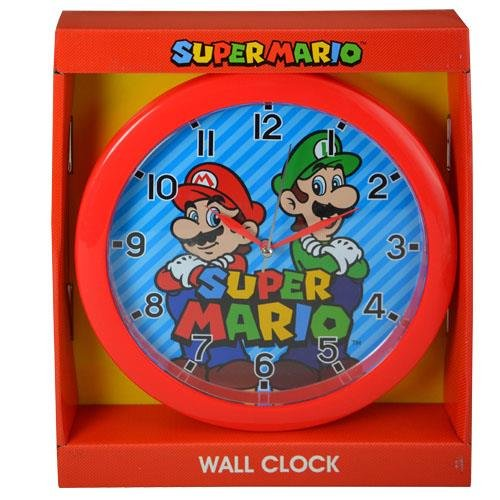 Super Mario Bros 10 Round Wall Clock Standard