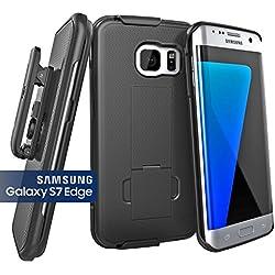 Samsung Galaxy S7 EDGE (Ultra-Slim) Case & Belt Clip Holster w/ Kickstand (Encased New 2016 Release