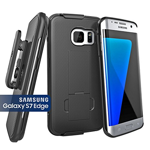 Samsung Galaxy S7 Edge (Ultra-Slim) Case & Belt Clip Holster w/Kickstand (Encased New 2016 Release