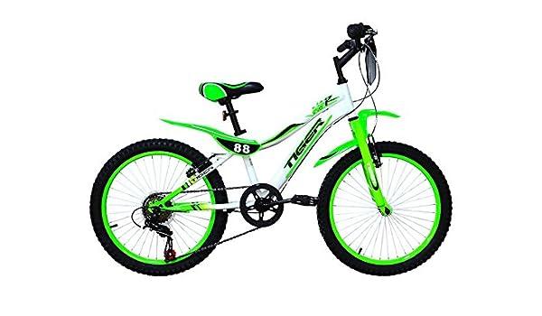 Tigre 88 moto marco de acero rueda de bicicleta – verde/blanco (18 ...