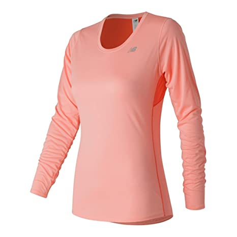 New Balance Women's Accelerate Long Sleeve Top, Alpha Violet, X-Small