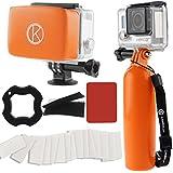CamKix AccessoryBundleforGoproHero4,Black,Silver,Hero+LCD,3+,3,2,1includingFloatingHandGrip/Floater/Anti-Fog(Orange)