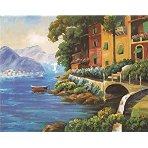 High Quality Polyster Canvas ,the Imitations Art DecorativeCanvas Prints Of Oil Painting 'the Landscape', 10x13 Inch / 25x32 Cm Is Best For Garage Artwork And Home Gallery Art And Gifts