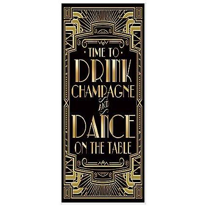 30aeb61f78e000 musykrafties Ruggenti Anni '20 Gatsby Festa a Tema Copertura per Porta  72x30 - Dance on