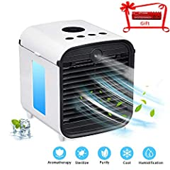 Why do you choose Eosaga Update Personal Air Cooler in this summer?Are you Staying in air-conditioned room for a long time?Or do you feel the air become dry and uncomfortable?A mini personal space cooler can cool you down in hot weather.-Whil...