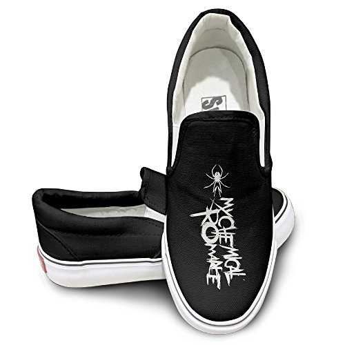 Rebecca My Chemical Poster Romance Skate Unisex Flat Canvas Shoes Sneaker 40 Black The Round Toe And Manmade Sole Will Keep Your Feet Feeling Comfortable And The Quality Canvas Materials (Mariah Carey Halloween Party)